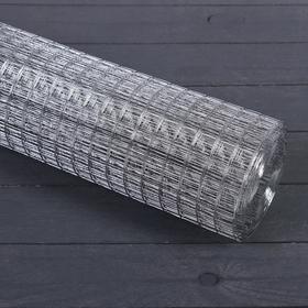 Сетка оцинкованная, сварная, 1 × 10 м, ячейка 20 × 20 мм, d = 0,6 мм, металл Ош