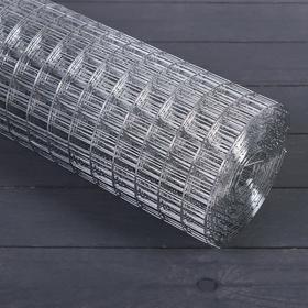 Сетка оцинкованная, сварная 0,5 × 10 м, ячейка 25 × 25 мм, d = 1 мм, металл Ош