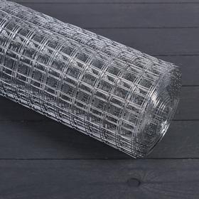 Сетка оцинкованная, сварная, 1 × 10 м, ячейка 25 × 25 мм, d = 1 мм, металл Ош