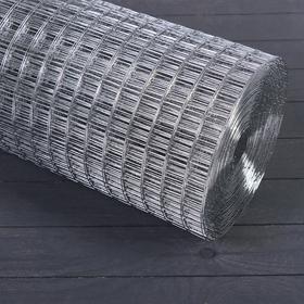 Сетка оцинкованная, сварная, 1 × 25 м, ячейка 25 × 25 мм, d = 1 мм, металл Ош