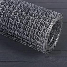 Сетка оцинкованная, сварная, 1,5 × 10 м, ячейка 25 × 25 мм, d = 1,2 мм, металл Ош