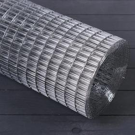 Сетка оцинкованная, сварная, 1 × 10 м, ячейка 25 × 12,5 мм, d = 1 мм, металл Ош
