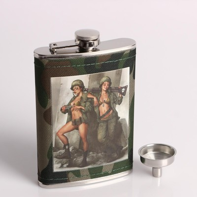"""Подарочный набор """"Дамы в форме"""" 6 в 1: фляжка 270 мл, воронка, 4 рюмки, 17х23 см - Фото 1"""