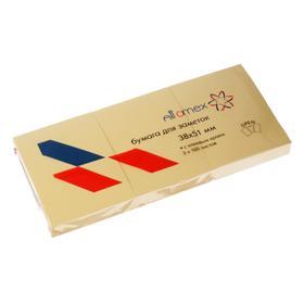 Набор блоков с липким краем 38 х 51мм, Attomex, 3 штуки х 100 листов, жёлтый