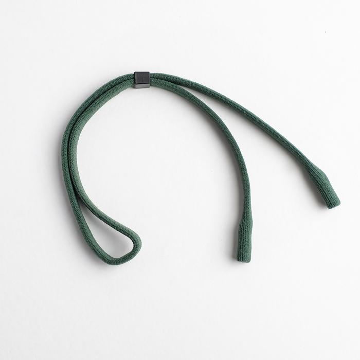 """Шнурок для очков """"Верёвка"""" плотная, цвет чёрно-зелёный F79158"""