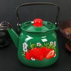 Чайник «Клубника садовая», 3,5 л, зелёный