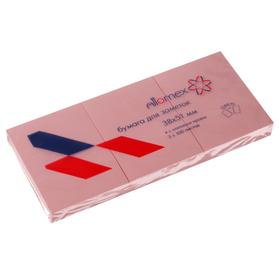 Набор блоков с липким краем 38 х 51мм, Attomex, 3 штуки х 100 листов, розовый