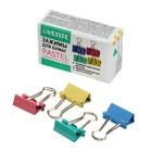 Зажимы для бумаг 15 мм, 12 штук, deVENTE, металлические, микс х 4 цвета, картонная коробка