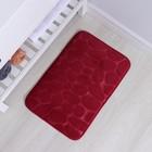 Коврик Доляна «Галька», 40×60 см, цвет бордовый - Фото 2