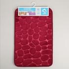 Коврик Доляна «Галька», 40×60 см, цвет бордовый - Фото 5
