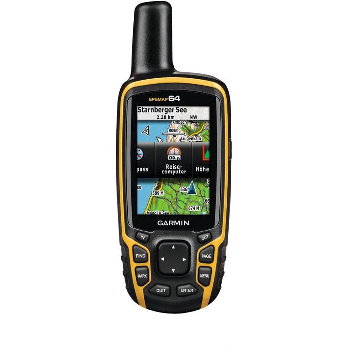 """GPS-навигатор Garmin GPSMAP 64 RUS (010-01199-01), 2.6"""", Дороги РФ, ТОПО6, черно-желтый"""