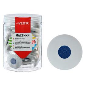 Ластик deVENTE Core, синтетика, 37 х 37 х 10 мм, круглый, пластиковый держатель, белый (штрих-код на каждом ластике)