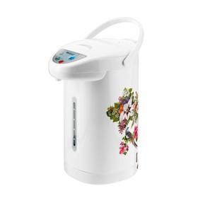 Термопот KELLI KL-1310, 1100 Вт, 4.5 л, белый, рисунок цветы