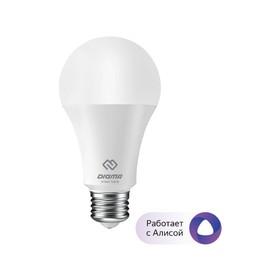Умная лампа Digma DiLight, E27, N1, RGB, Wi-Fi, 8 Вт, 800 Лм