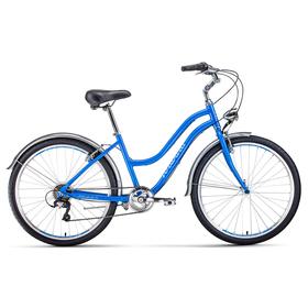 Велосипед 26' Forward Evia Air 1.0, 2020, цвет синий/белый, размер 16' Ош