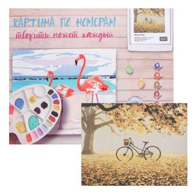 Картина по номерам «Велосипед» 40×50 см