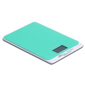 Весы Kitfort КТ-803-1, кухонные, до 5 кг, шаг 1 г, зелёные