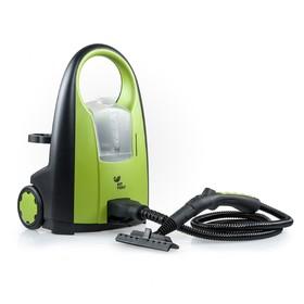 Пароочиститель Kitfort КТ-903, 2000 Вт, 1.2 л, нагрев 2-3 мин, чёрно-зелёный Ош