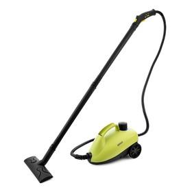 Пароочиститель Kitfort КТ-951, 1250 Вт, 0.75 л, нагрев 7-9 мин, чёрно-зелёный Ош