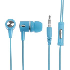 Наушники LuazON, шоу-бокс, вакуумные, микрофон, синие Ош