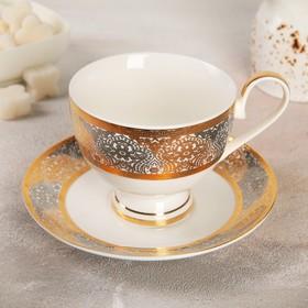 Чайная пара «Саксония»: чашка 230 мл, блюдце