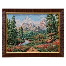 Картина из гобелена 'Лесная тропа' 35х45 см Ош