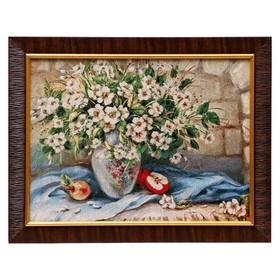 Картина из гобелена 'Белый букет' 35х45 см Ош