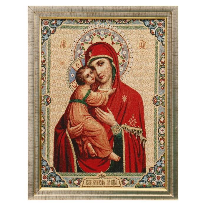 Картина из гобелена Божия Матерь 35х45 см