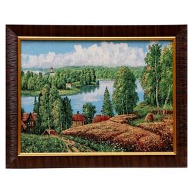 Картина из гобелана 'Вид на лес' 35х45 см Ош