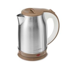 Чайник электрический LuazON LSK-1814, металл, 1.8 л, 1800 Вт, коричневый