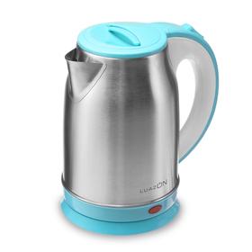 Чайник электрический LuazON LSK-1814, 1800 Вт, 1.8 л, голубой Ош