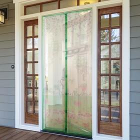 Сетка антимоскитная на магнитах «На полянке», 80×210 см, цвет зелёный Ош