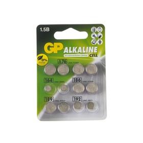 Батарейки алкалин GP, LR44(A76)-4шт,LR60(164)-2шт,LR43(186)-2шт,LR54(189)-2шт,LR41(192)-2шт