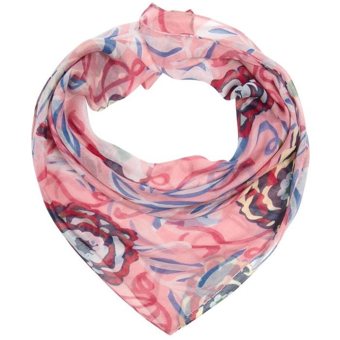 Платок женский текстильный, цвет розовый, размер 96х96
