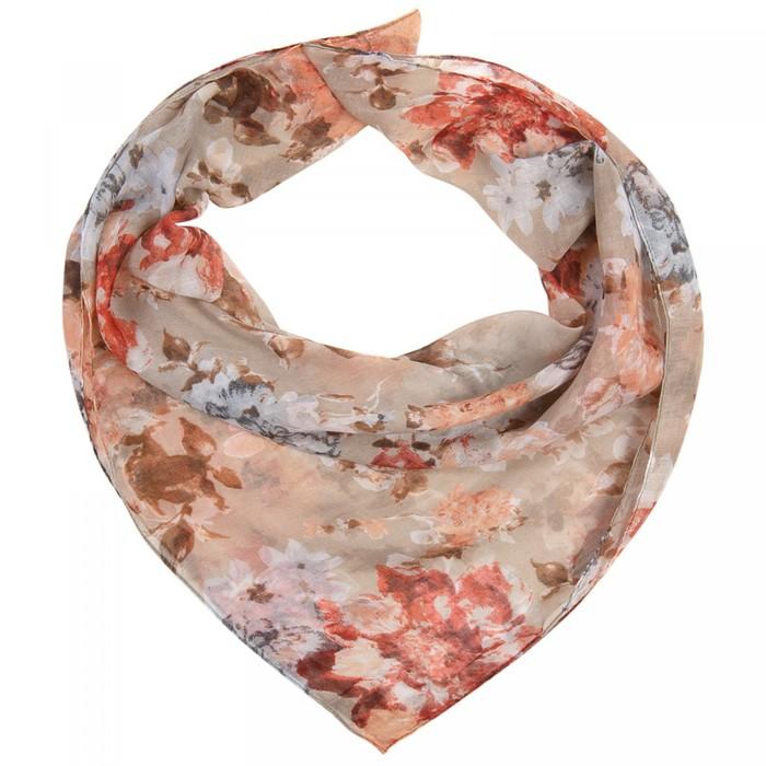 Платок женский текстильный, цвет бежевый, размер 96х96