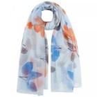 Палантин женский текстильный, цвет голубой, размер 90х180