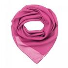 Платок текстильный женский, цвет розовый, размер 70х70