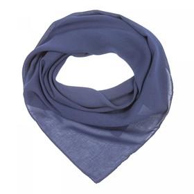 Платок текстильный женский, цвет синий, размер 70х70