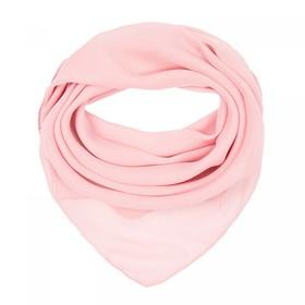 Платок текстильный женский, цвет нежно-розовый, размер 70х70
