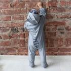 Комбинезон «Умный Енот» с капюшоном, рост 56-62 см, цвет серый - Фото 2