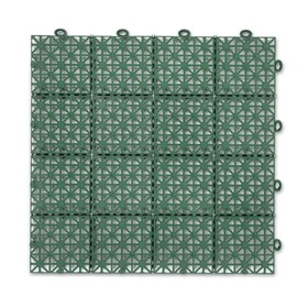 Модульное покрытие, 30 × 30 × 1,5 см, пластик, зелёный, 1 шт Ош