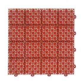 Модульное покрытие, 30 × 30 × 1.1 см, пластик, терракотовый, 1 шт. Ош
