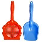 Песочный набор, 2 предмета: грабли-ситечко, совок, 25 см, цвета МИКС - Фото 3
