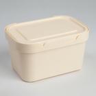 Ящик для хранения с крышкой Luxe, 1,9 л, 18,9×13,2×11 см, цвет бежевый