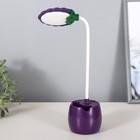 Лампа настольная 85293/1 LED 3Вт USB AKB фиолетовый 9х7х36 см