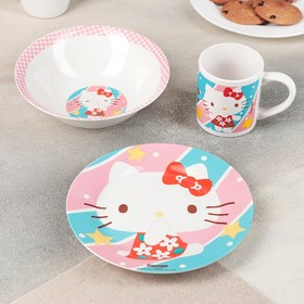 Набор посуды детский Hello Kitty, 3 предмета