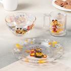 Набор посуды детский «Микки гонщик», 3 предмета