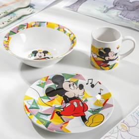 Набор посуды детский «Микки. Цветовой поток», 3 предмета