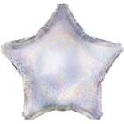 """Шар фольгированный 18"""", звезда, серебро голография"""