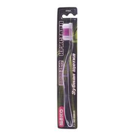 Зубная щётка мод Кристалл арт.  302 двухкомпонентная прозрачная зубная щетка с резиновой вст